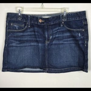 Gap Denim Short Skirt Distressed Limited Edition